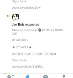 DAWN cup Jim Bob tweet