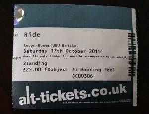Ride ticket